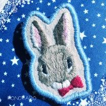 【刺繍】ウサギのブローチの記事に添付されている画像