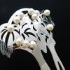 鶯のアコヤパール付き銀かんざし 準礼装のキモノ、結婚披露宴、パーティーなど華やかな機会におすすめの画像