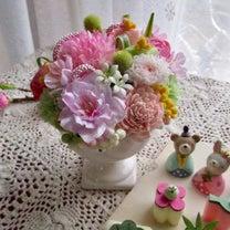 雛祭りアレンジ in お家レッスン(Sさん)の記事に添付されている画像