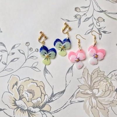 お花を再現!!ビオラのアクセサリーの記事に添付されている画像