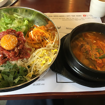 서울곱창でユッケビビンバの記事に添付されている画像