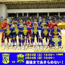 全日本フットサル選手権プレイオフのため休診の記事に添付されている画像