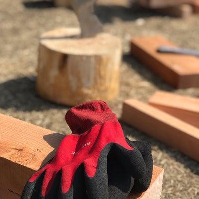 女子キャンプ朝から薪割りで復讐するの巻の記事に添付されている画像
