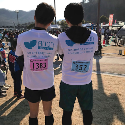 初ハーフマラソンの記事に添付されている画像