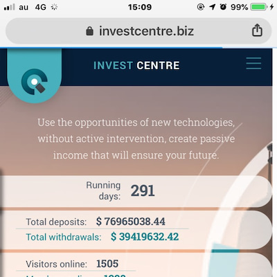investcentre(日利140%)の紹介の記事に添付されている画像