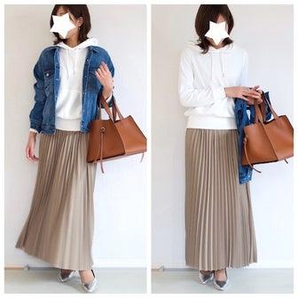 GUの1490円スウェットがお値段以上!旬のプリーツスカートに合わせてみた♪