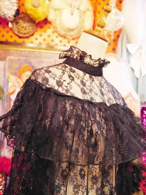 ebd26bc0f8efe ヴィンテージ黒レースゴシックドレス!ヨーロッパレディース古着Gogh ...