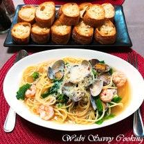 この春はまりそう...~菜の花とアサリ&エビのスープスパゲッティ~の記事に添付されている画像
