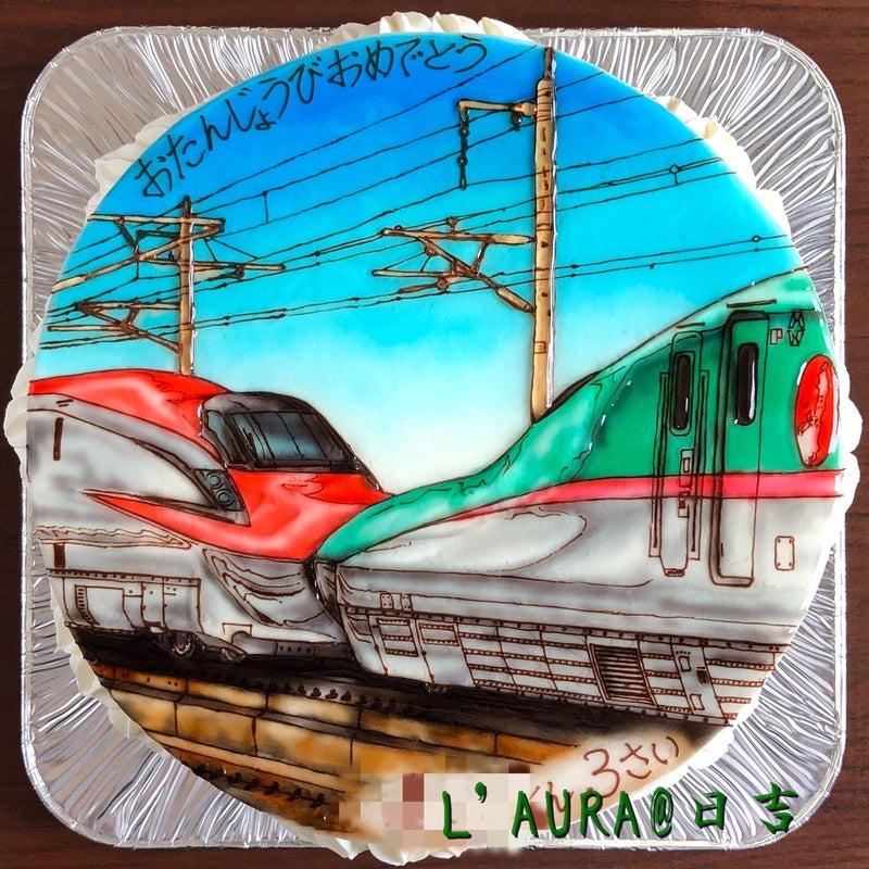 迷走の渦から抜け出せないテーマ それは 新幹線の 連結 ケーキ店l Auraの 最強 イラスト日記