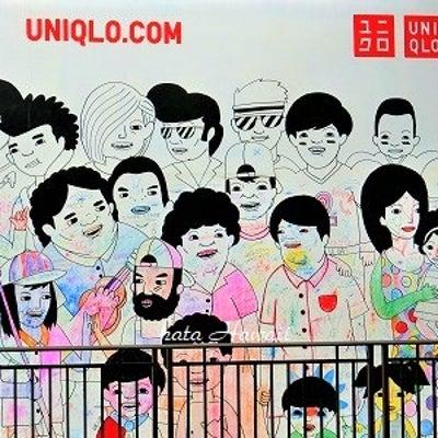 Hawaii☆ユニクロ アラモアナ店の壁画♡の記事に添付されている画像