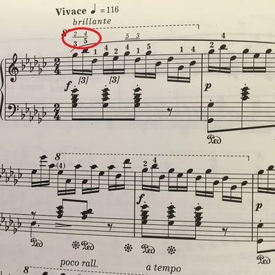 楽譜による指使いの違いの記事に添付されている画像