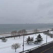 雪の日の波打ち際 / 掲示板事件その後の記事に添付されている画像