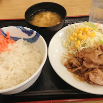 松屋  豚肩ロースの生姜焼定食♪の記事に添付されている画像