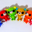 フェルト雑貨講習会に7色くまちゃんズ追加しました♪