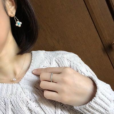 お稽古日♡変わり結び♡ブラウン×ターコイズブルー♡パールコーディネート♡♡の記事に添付されている画像