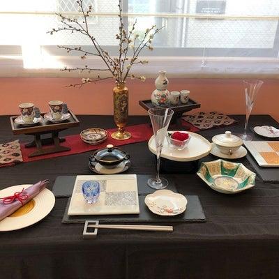 花生活空間の「和のテーブルセッティング」より佐賀ご出身のKさんの「梅尽くし」テーの記事に添付されている画像
