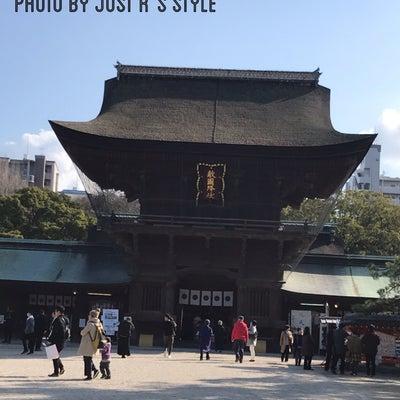 着物で筥崎宮参拝の記事に添付されている画像