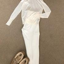 全身ZARAの白でグダグダ週末の記事に添付されている画像