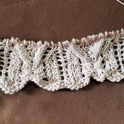 透かしアランのカーデ その5 前身頃の裾、引き返し編みの記事に添付されている画像