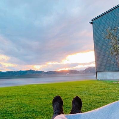 夕陽が綺麗【芝生完了からのIKEA】の記事に添付されている画像