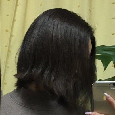 昨日髪を切ったけど今日また少し切ってもらったの記事に添付されている画像