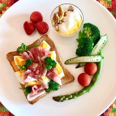 糖質を摂取しながらダイエット  オープンサンドの記事に添付されている画像