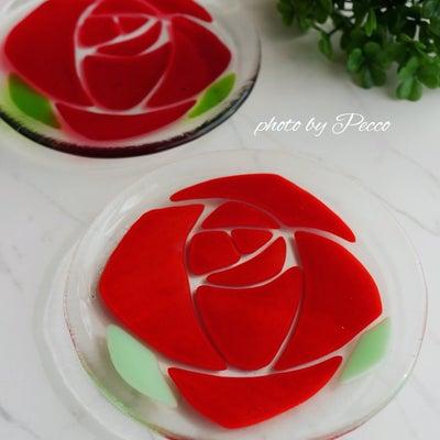 ガラスフュージング♡バラのお皿の記事に添付されている画像