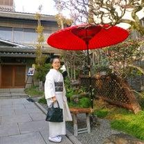 六盛カフェコーナー茶庭、極上スフレ堪能!春先の長襦袢事情?白鳥紬に墨紫帯休日コーの記事に添付されている画像