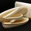 クラッチバッグとお揃いのフォーマル佐賀錦草履|帯地使用クラッチバッグ|結婚式、パーティーにお勧めの画像