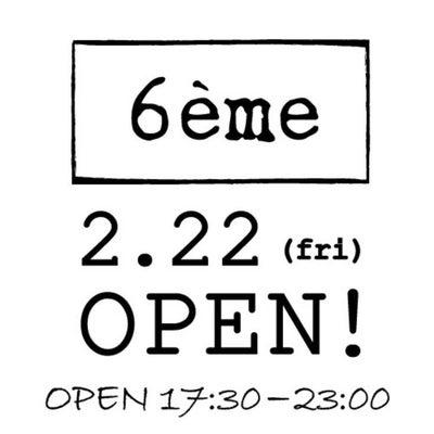 6eme(ロクエメ) ~新店オープンの記事に添付されている画像