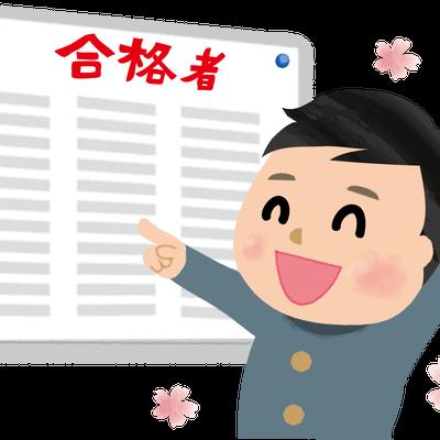 【速報!】高校入試合格発表!の記事に添付されている画像