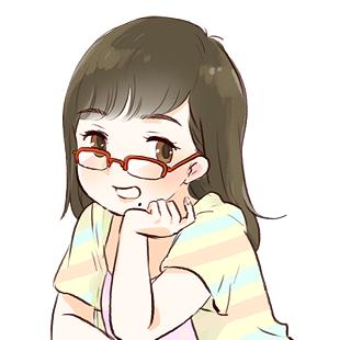 アイコンに使えるメガネのかわいい女の子のイラスト画像1無料配付中