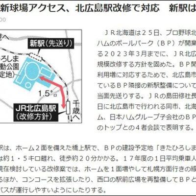 【まったり駅探訪】千歳線・北広島駅に行ってきました。の記事に添付されている画像