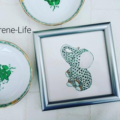 ヘレンド風ペンクチュールで描く「象さん」~ポーセラーツクラスの記事に添付されている画像