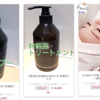 ☆大人気!幹細胞シャンプー&トリートメント☆の記事に添付されている画像