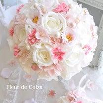 桜のウェディングブーケ♡アーティフィシャルフラワーの記事に添付されている画像