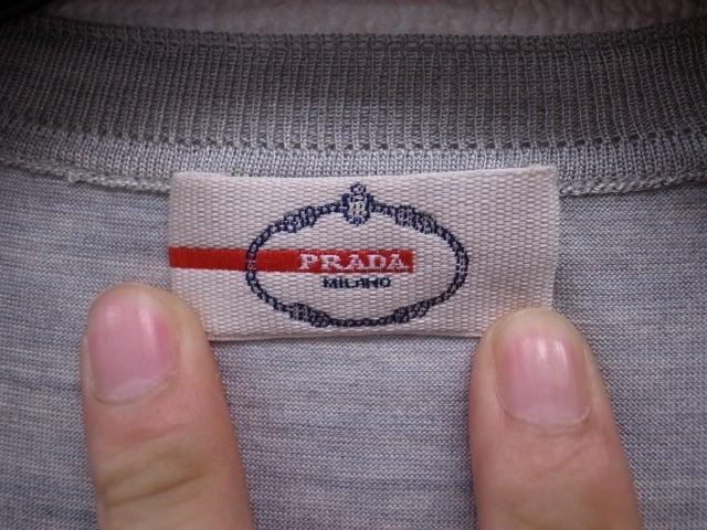 439187218411 プラダ売るなら高価買取おまかせ屋】PRADAシルクコットン半袖Tシャツ財布 ...