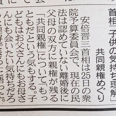 安倍首相!共同親権、もっともだ!の記事に添付されている画像