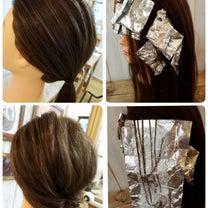 まとめ髪にはこんなハイライト☆の記事に添付されている画像