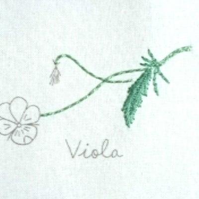 次の刺繍はビオラ♪の記事に添付されている画像