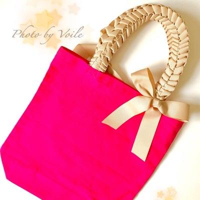 春が待ち遠しくなるハンドメイドで ピンクのリボンバッグの記事に添付されている画像