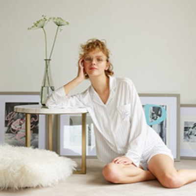 上質なモダール生地❤︎ストライプ柄シャツパジャマの記事に添付されている画像