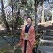 梅の長羽織で大和文華館へ