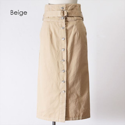 ラフなのに大人っぽい ベルト付きハイウエストナロースカートの記事に添付されている画像
