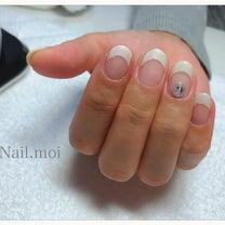 春の白フレンチネイル♡の記事に添付されている画像