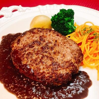ミディアムレアのハンバーグステーキの記事に添付されている画像