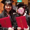 角帽で卒業式の画像