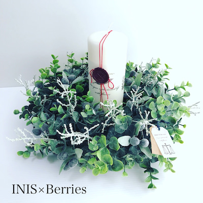 INIS×Berries デザインコース ユーカリのキャンドルリースの記事に添付されている画像