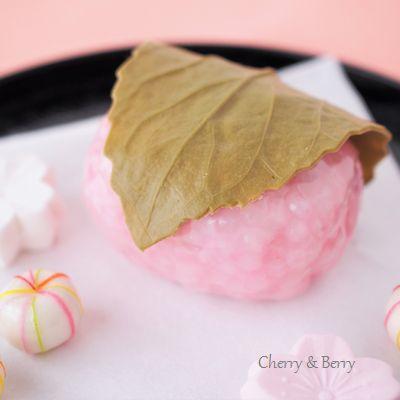 桜餅と春の干菓子の記事に添付されている画像