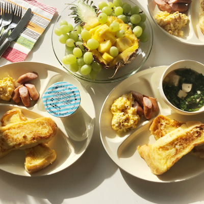 朝食とウグイスの記事に添付されている画像